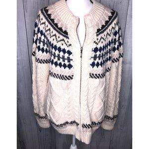 ARAN WOOLEN MILLS Fair Isle Merino Wool Sweater XL